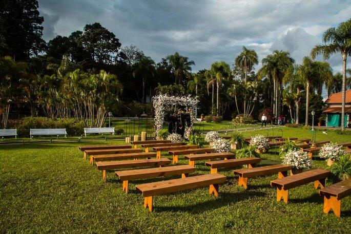 decoração cerimônia ar livre