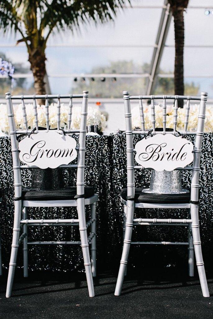 decoração casamento preto e prata