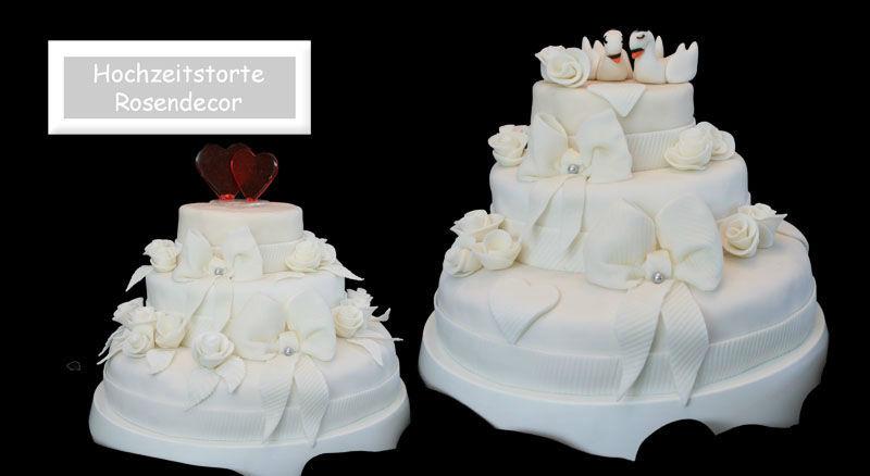 Beispiel: Klassische Hochzeitstorten, Foto: Partytorten.ch.