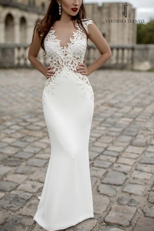 Robe de mariée sirène, guipure | Collection 2017 | Veronika Jeanvie