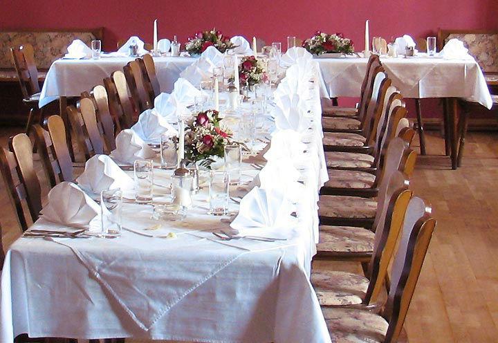 Beispiel: Hochzeitstafel, Foto: Restaurant Schottenhof.