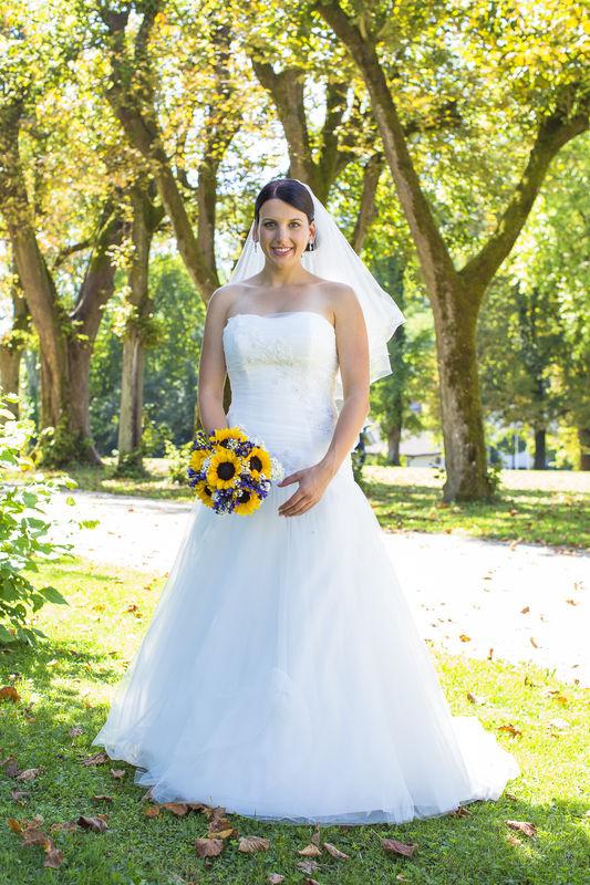 Während des Brautpaarshooting