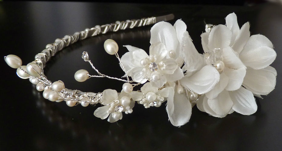 Beispiel: edler Blüten design haarschmuck