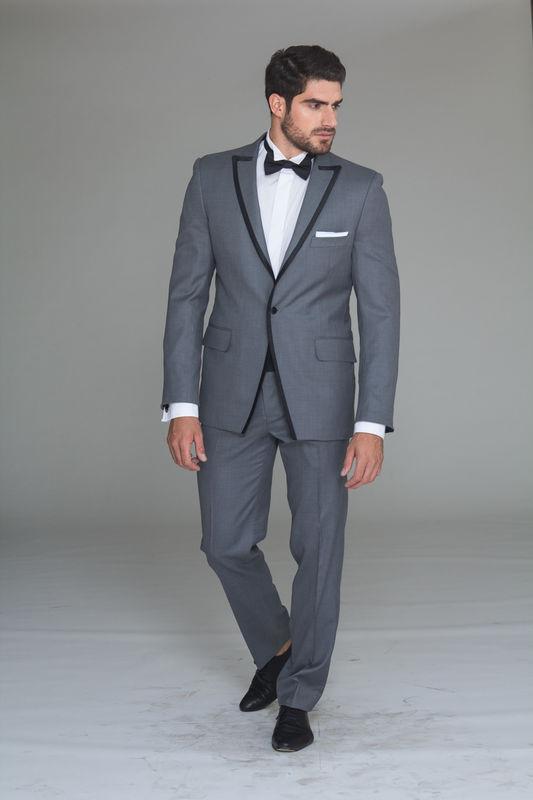 Tuxedo Gris 100% lana Faja Humita
