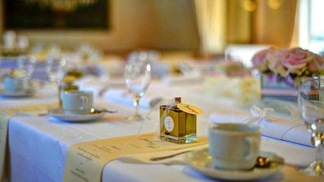 Beispiel: Tischdekoration, Foto: Gasthof Lachner.