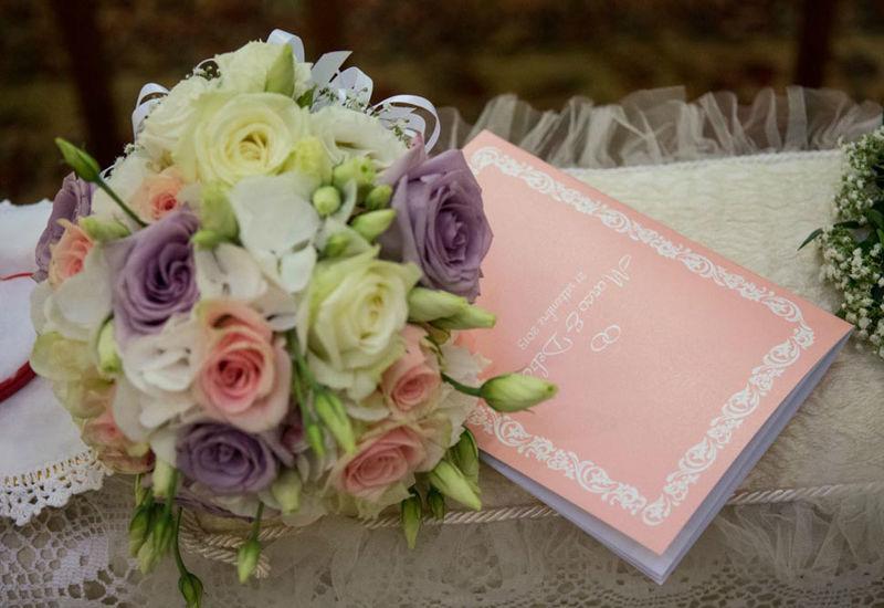 Libretto nozze e fiori sposa Rosa & Viola