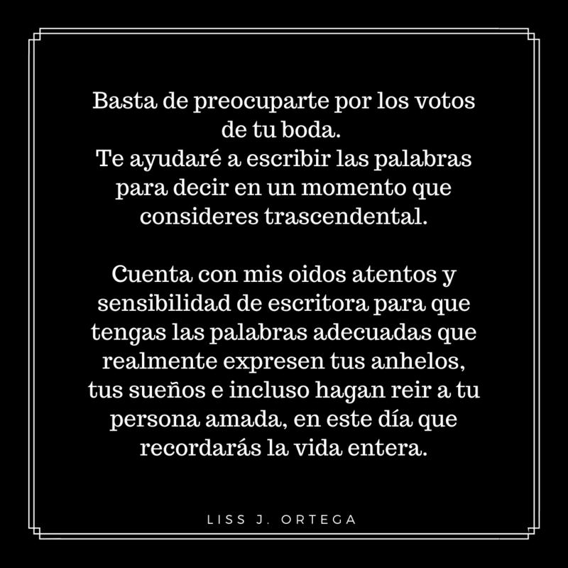 Liss J. Ortega - Votos inolvidables
