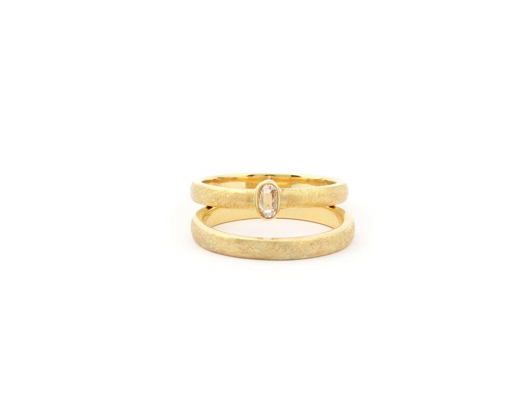 Trouwringen met unieke diamanten. Elke steen is anders waardoor er maar een versie van jouw ring is.