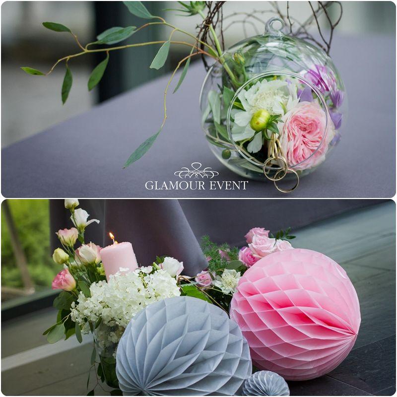 Ślub w kolorach quarz rose & serenity w stylu vintage. fot. Kasia Lis