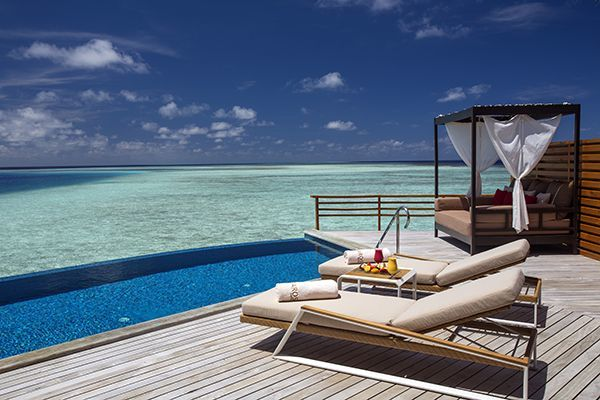 Infinity pool Maldivas