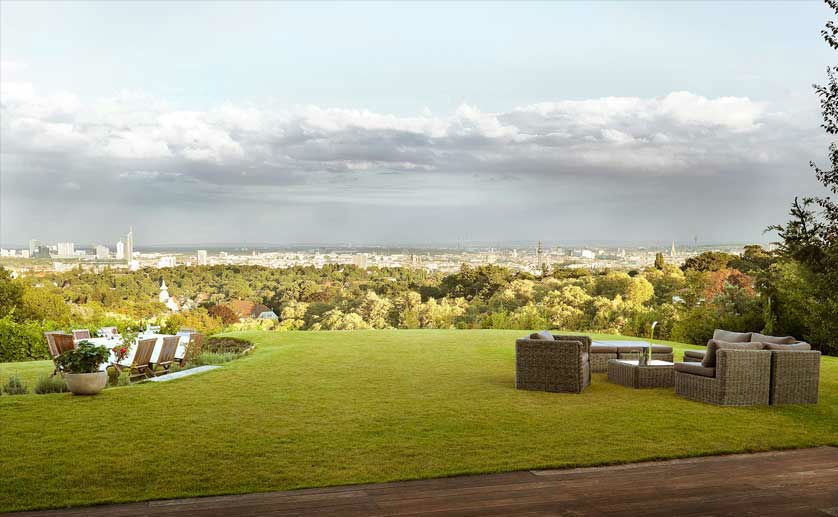 Beispiel: Aussicht über Wien, Foto: Weingut am Reisenberg.