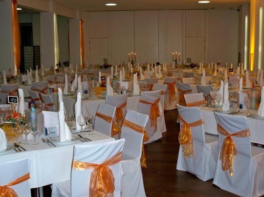 Beispiel: Hochzeitsgedeck, Foto: SeePavillon am Tegeler See.