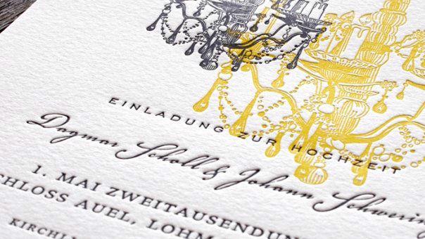 Beispiel: Ihre Hochzeitseinladung mit Letterpress, Foto: Honeybird.