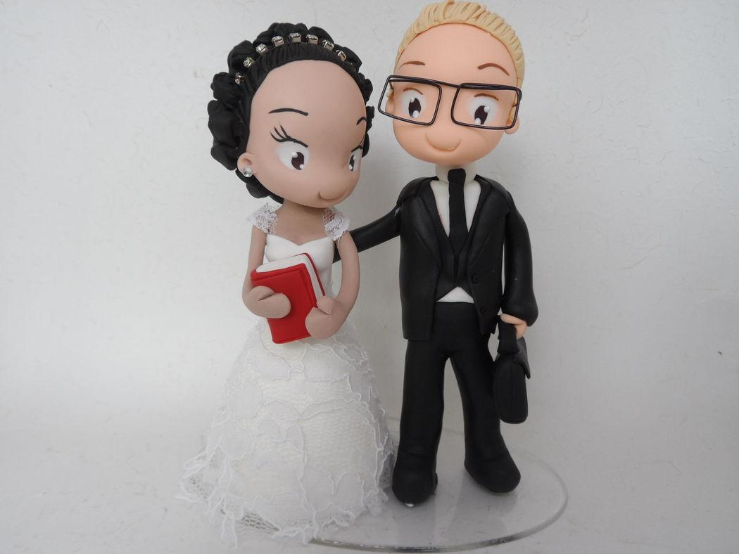 Noivinho de Biscuit Personalizado, noivinha professora!