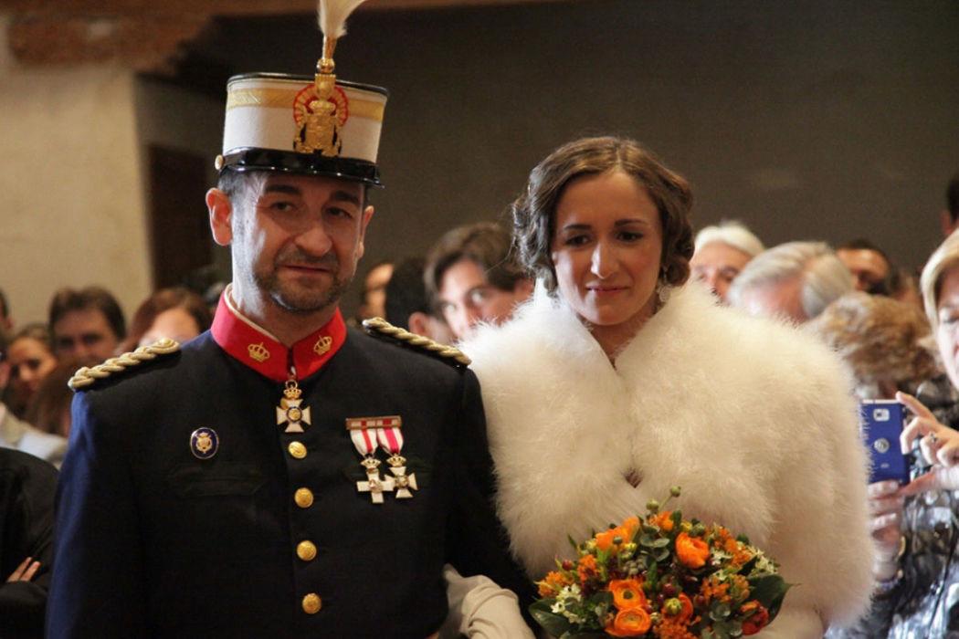 Una boda solemne en un entorno muy especial
