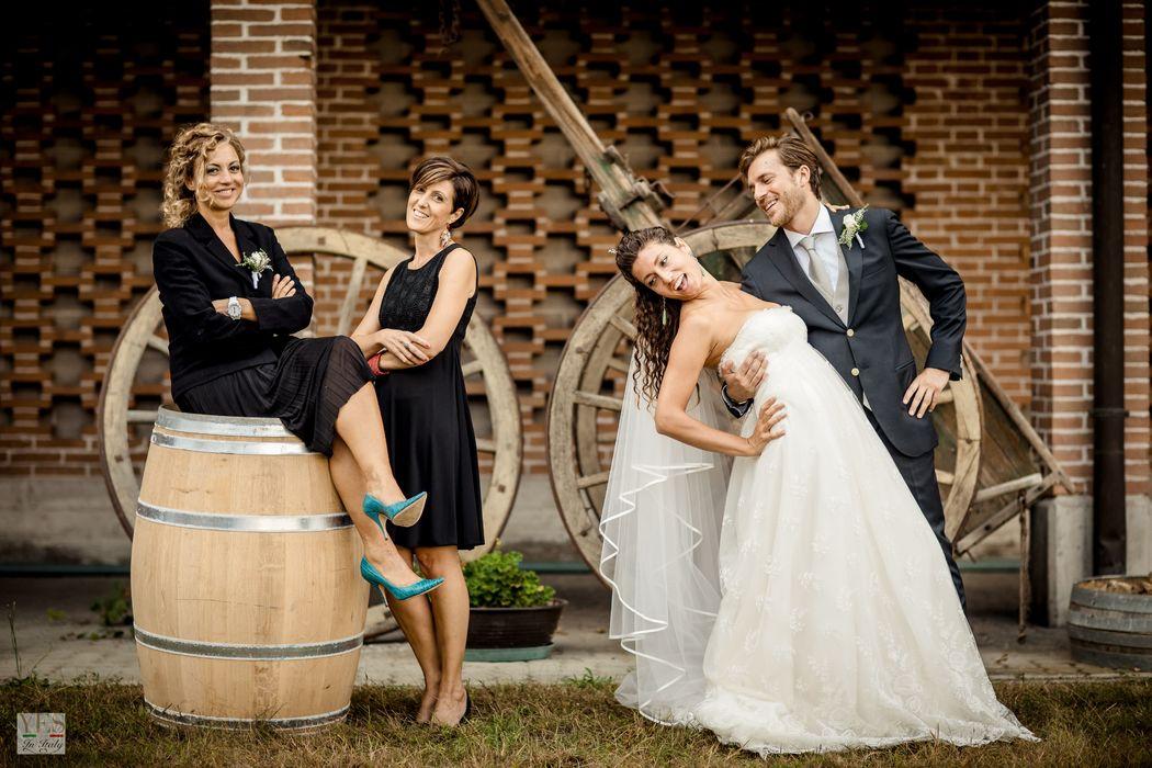 Gli sposi con le wedding planner