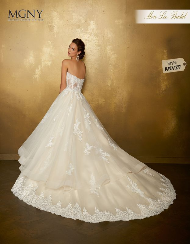 Style ANVZF Ondine  Sculptured appliqués with crystal and diamanté beading on a tulle ball gown