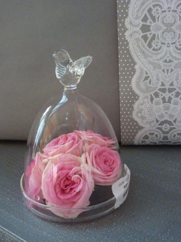 Petit oiseau de verre pouvant accueillir vos secrets, vos petits gâteaux, vos cadeaux...