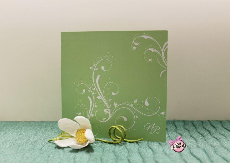 Coi Fiocchi wedding design - partecipazione di nozze su carta perlata