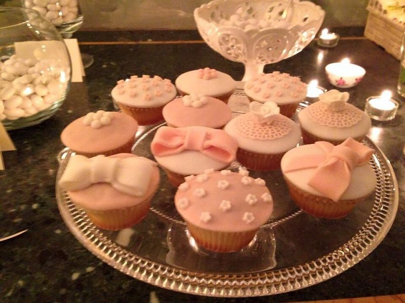 Cup cakes in stile shabby chic