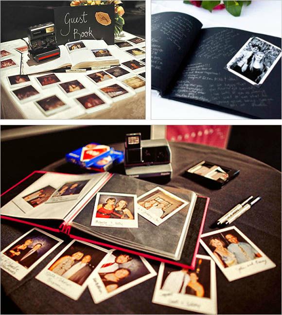 Alternative Guestbook Idea - Noleggio Polaroid + album personalizzato per raccogliere firme e foto dei vostri invitati