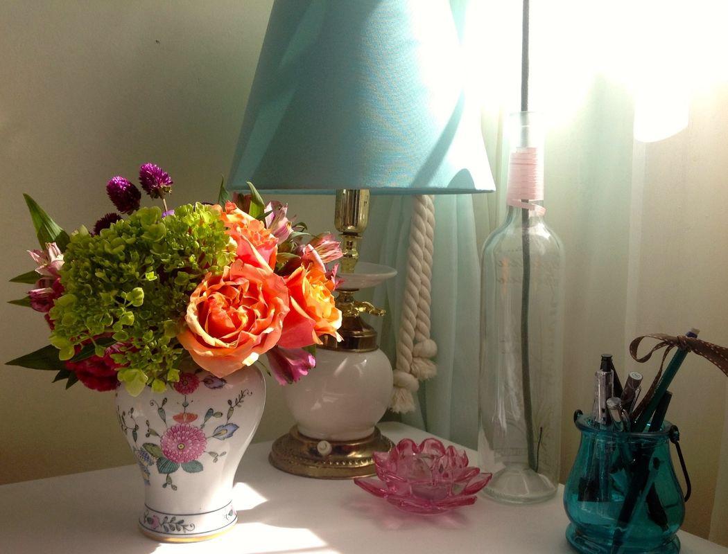 En la Oficina! Flores que inspiran creatividad.