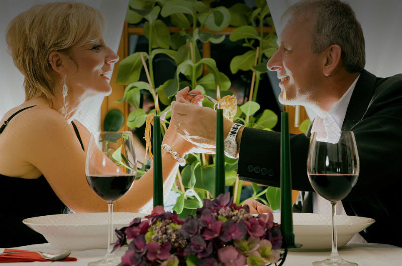 Beispiel: Romantische Atmosphäre, Foto: Schloss Gastronomie Kaisergarten.