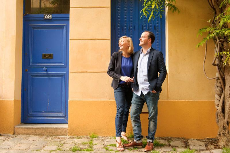 Séance engagement à Paris, dans la très jolie rue des Thermopyles.