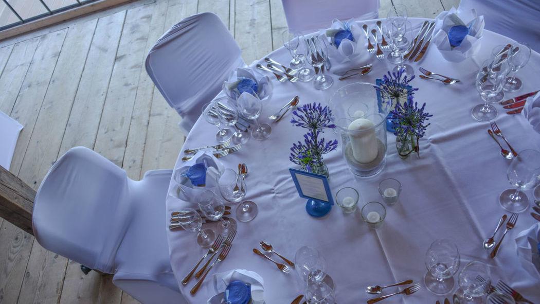 Beispiel: Tischdekoration, Foto: Hotel Terrassenhof.
