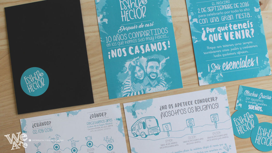 Invitaciones de Boda Modernas. We Are