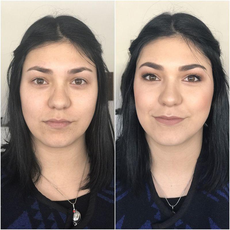 Antes e Depois Makeup