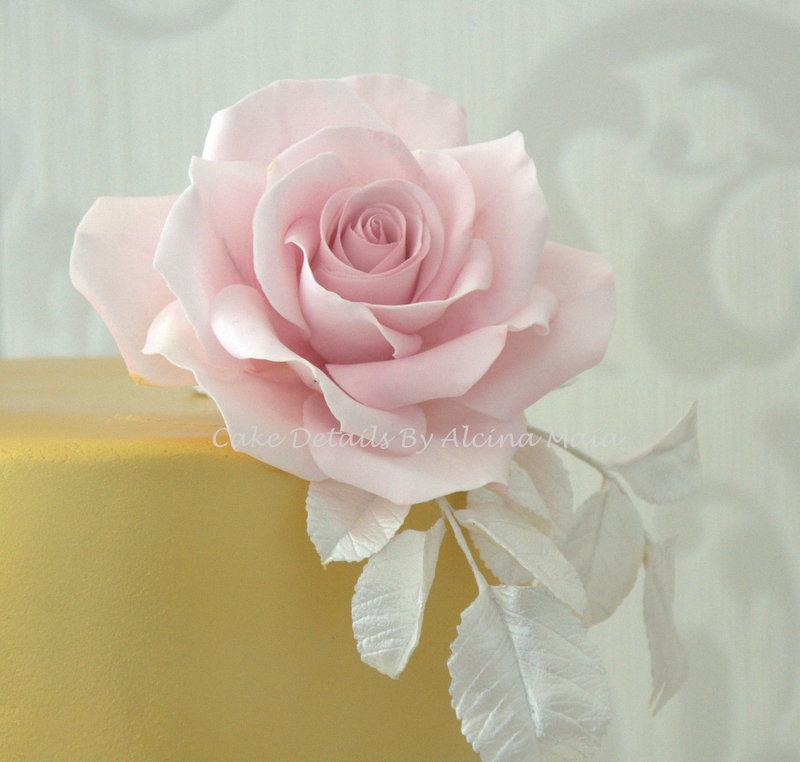 Rosa em açúcar