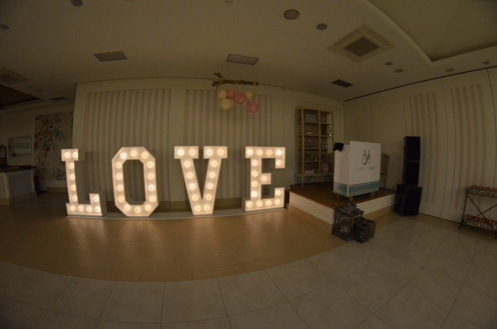 Letras LOVE como decoración