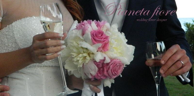 Peonie e Rose  Acqua  bouquet  <3 Daniela
