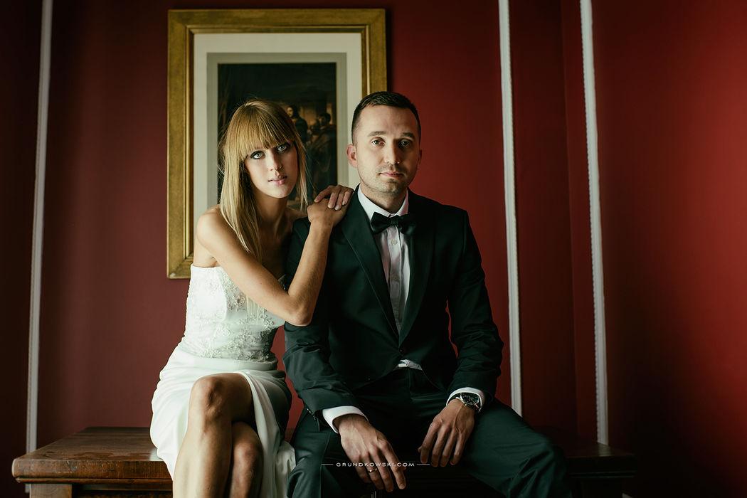 Portret ślubny w wnętrzach Hotel Bursztynowy Pałac