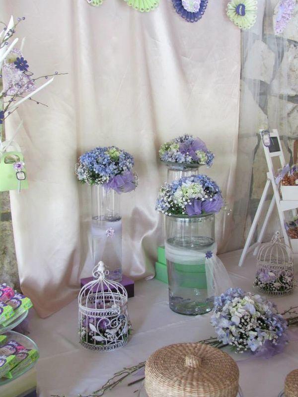Mesa Mixta campirana para boda