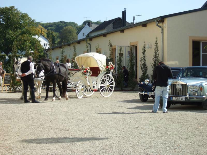 Beispiel: Hochzeitskutsche auf Schlosshof, Foto: Schloss Niederweis.
