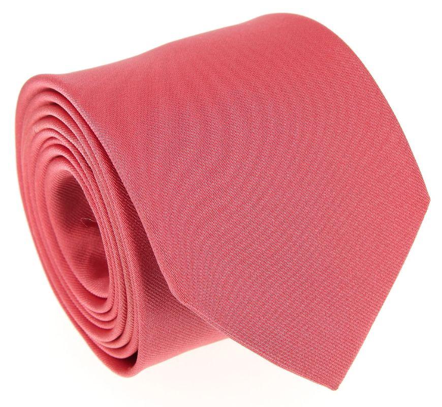 Cravate en soie corail - Maison de la Cravate