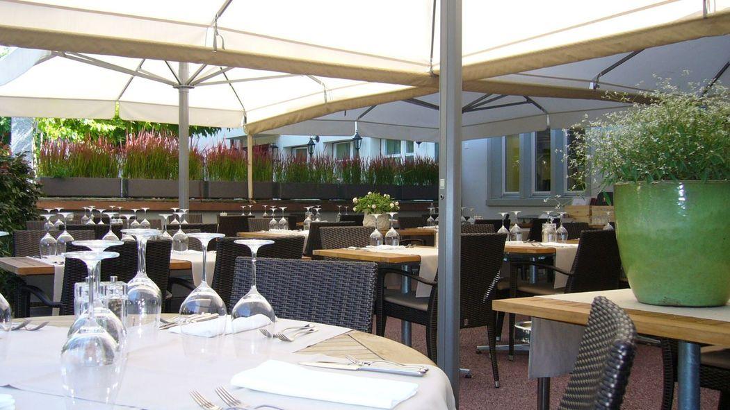 Beispiel: Terrasse, Foto: Gasthof zum Ochsen.