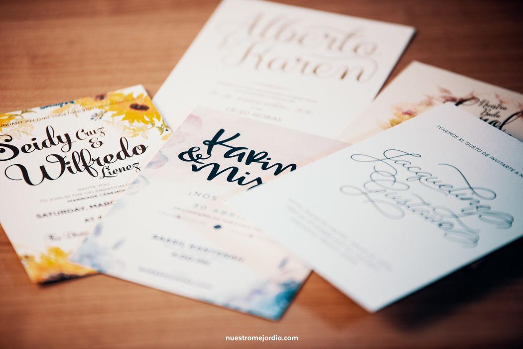 Cada invitación es diferente, así como cada pareja es diferente.