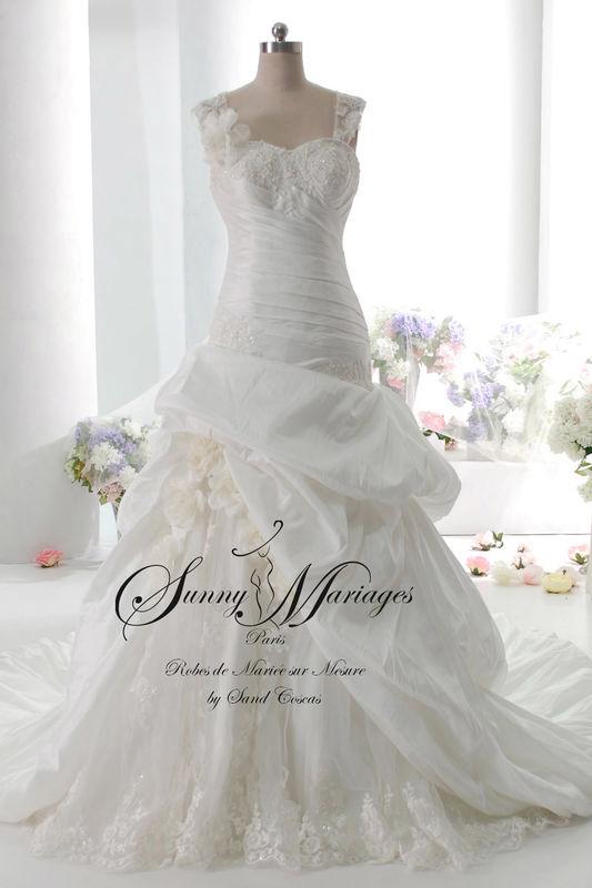 robe de mariée collection 2016, robe de mariée dentelle, bretelle