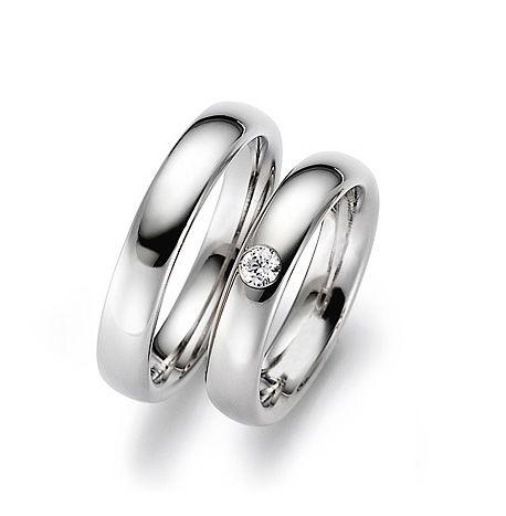 AM34 Aros de matrimonio con diamantes. Hechos a medida en oro blanco o amarillo 18K.