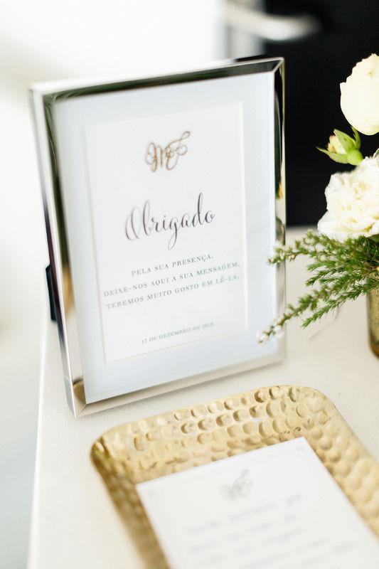 Mensagem de agradecimento aos convidados