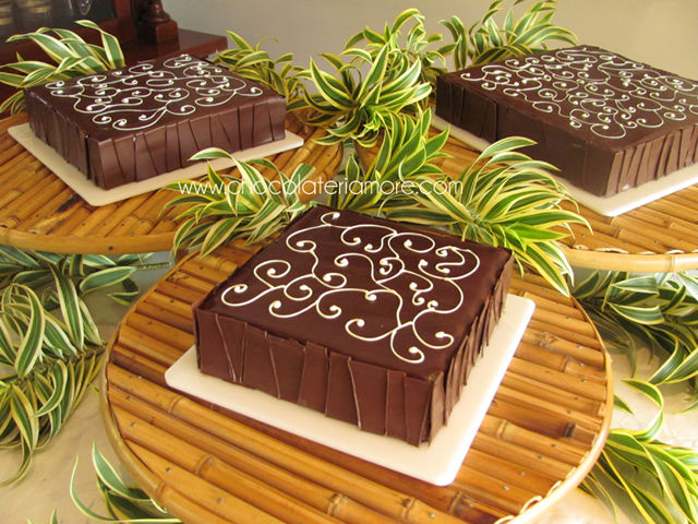 torta de brownie con chocolate