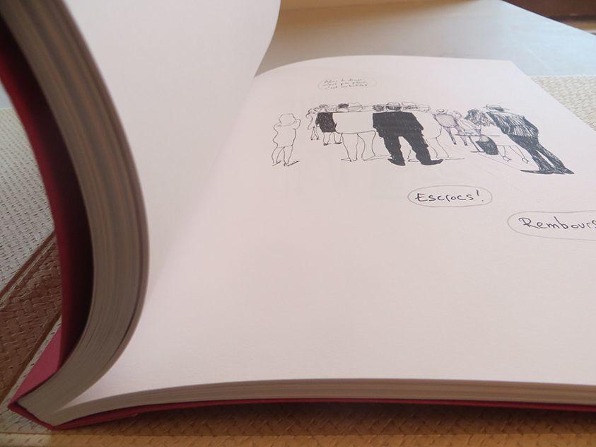 Album sur papier d'art, relié à la japonaise et sa couverture souple