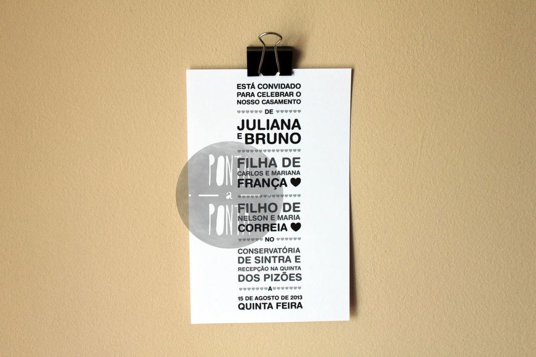 Convite J&B (2/2) | 1 lado | rectangular