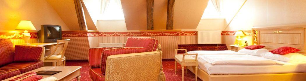 Beispiel: Hotelzimmer, Foto: Landhotel Schloss Teschow.
