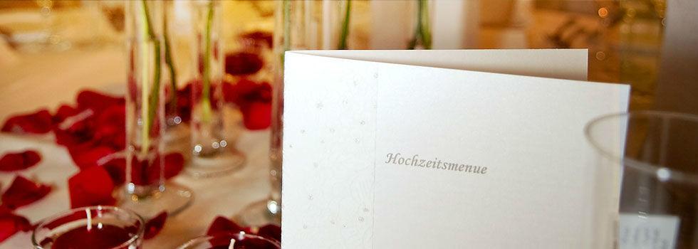 Beispiel: Ihr individuelles Hochzeitsmenü, Foto: Schloss Lehen.