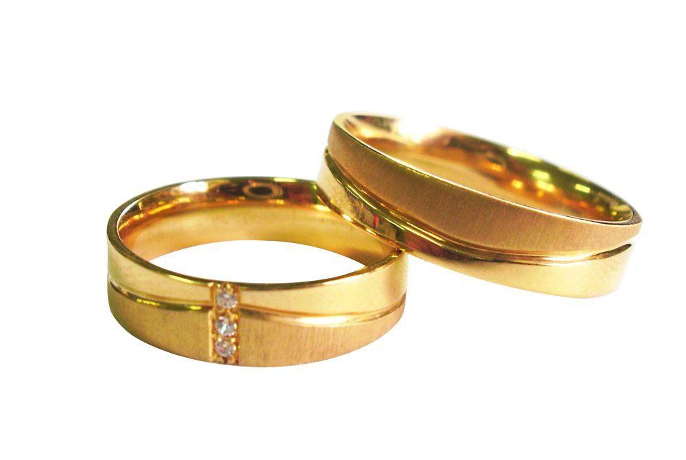 Alianças Casamento Ouro Amarelo ALBIC90A