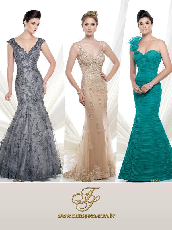 Tutti Sposa - Vestido de Festa - Modelo 115D76 - 115D73 - 115D72